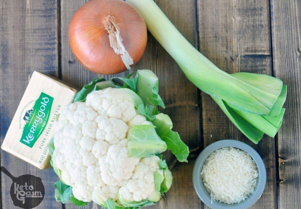 Recipe for Cauliflower Parmesan Soup
