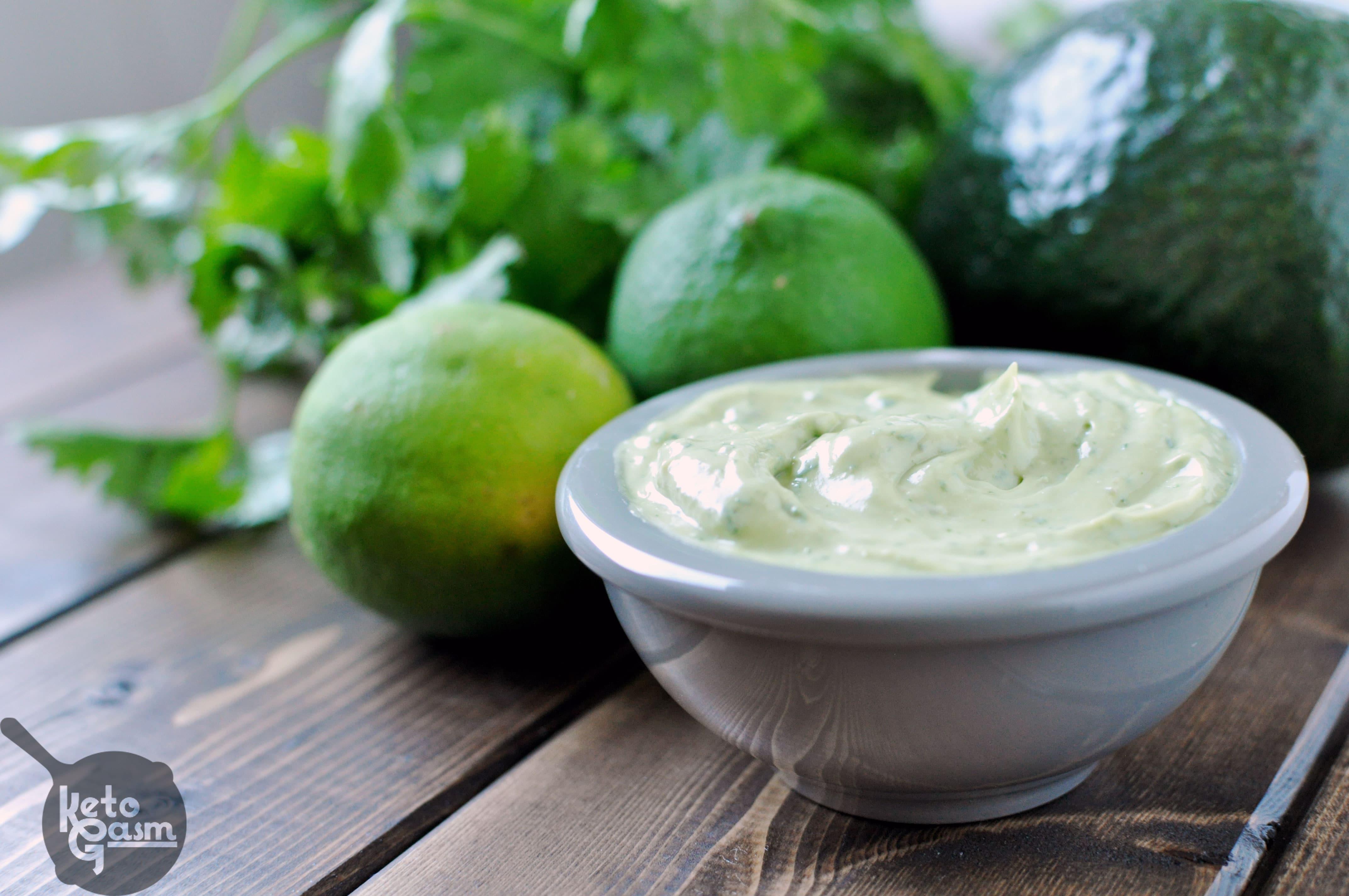 avocado mayonnaise with cilantro & lime [recipe] - ketogasm