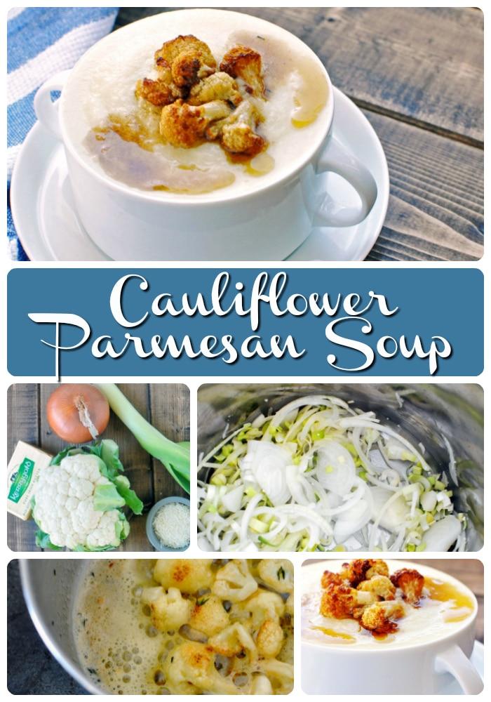 Cauliflower Parmesan Soup #keto #lowcarb #recipe #cauliflower #browned #butter #parmesan #low #carb #atkins