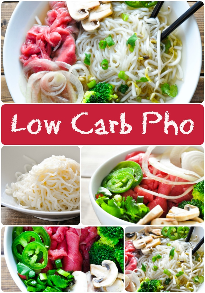 Low Carb Pho - Vietnamese Beef Noodle Soup #keto #low #carb #shirataki #beef #noodle #soup #recipe #vietnamese #ketogenic #atkins #induction