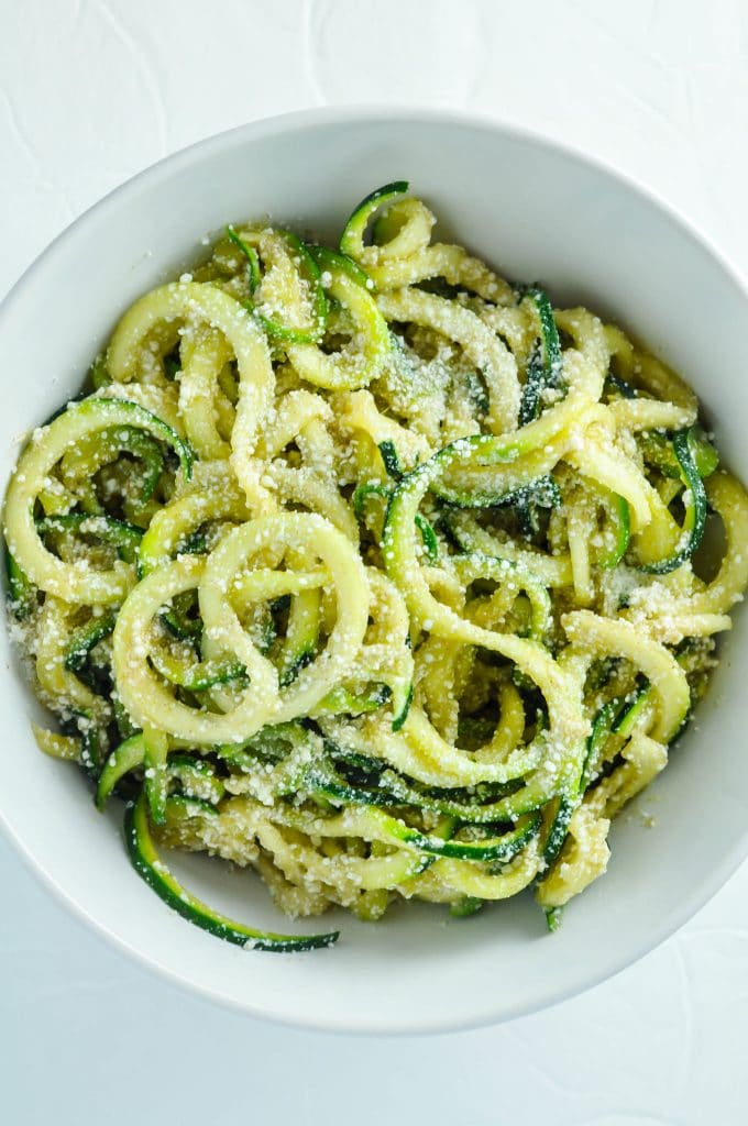 Zucchini Noodles w/ Browned Butter & Mizithra Cheese [Recipe] | KETOGASM #keto #ketogenic #ketosis #diet #recipes #zoodles #atkins #lowcarb #mizithra #cheese #browned #butter #zucchini #noodles #spaghetti #factory