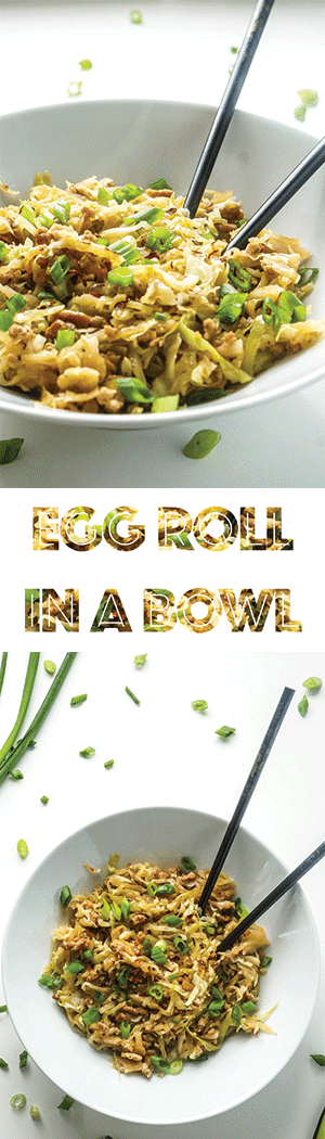 Egg roll in a bowl AKA crack slaw! Low Carb & Keto Friendly!