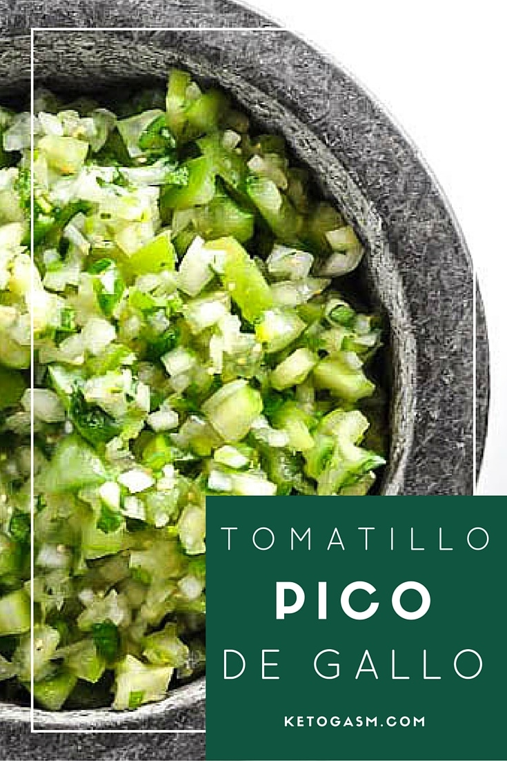 Tomatillo Pico de Gallo Salsa [Recipe]