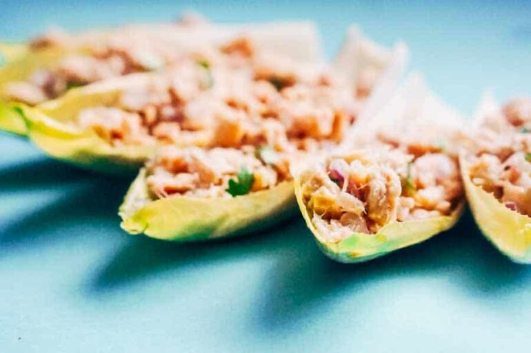Tuna Stuffed Endive with Avocado Oil Vinaigrette [Recipe]