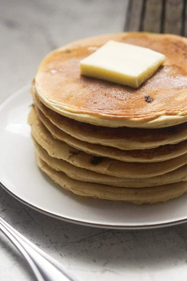 Keto Protein Pancakes | Low Carb Chocolate Chip Pancakes