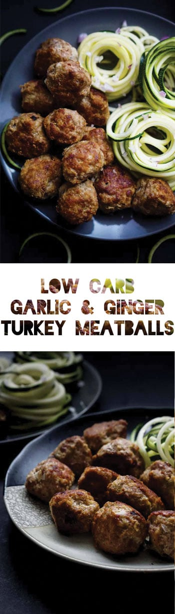 Keto Meatball Recipe   Low Carb Garlic & Ginger Turkey Meatballs
