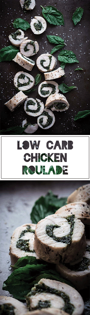 Keto Chicken Roulade Recipe with Low Carb Spinach Basil Pesto
