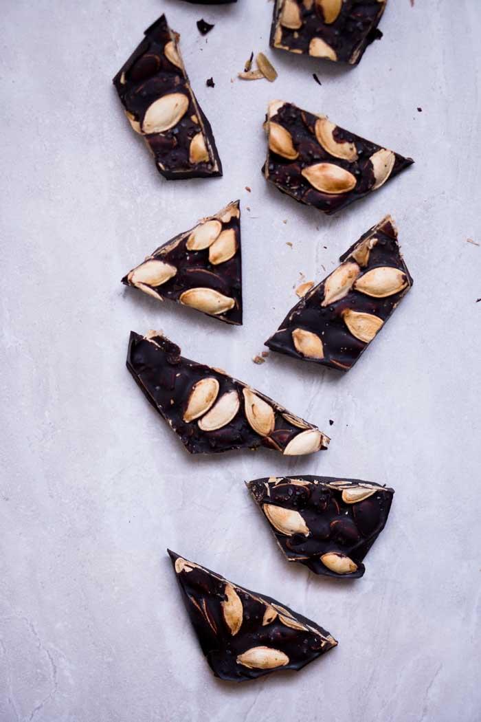 Low Carb Pumpkin Seed Bark - Keto Friendly - Is sugar free chocolate low carb?