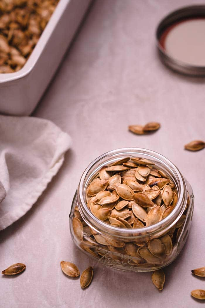 Ghee & Sea Salt Roasted Pumpkin Seeds Recipe - Low Carb, Gluten-Free, Dairy-Free