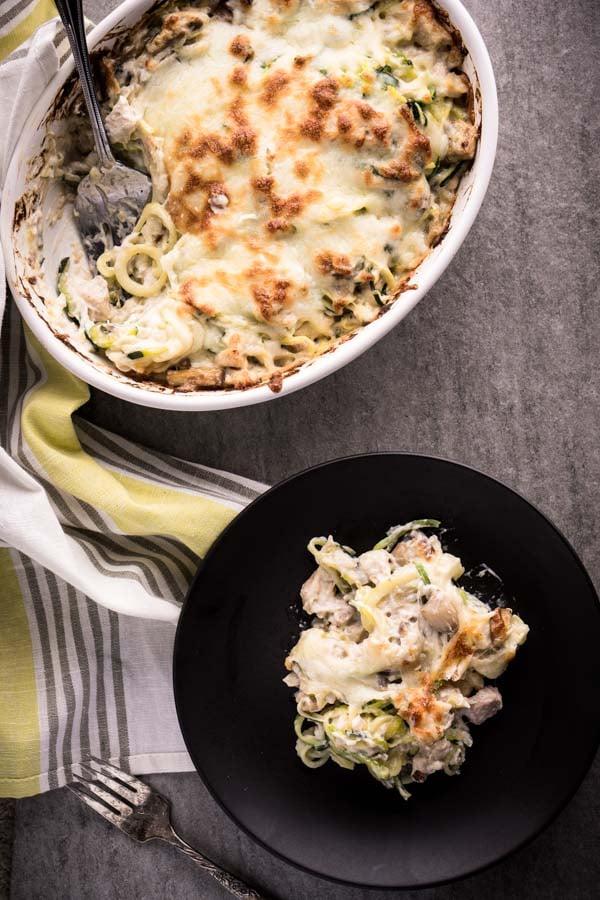 Low Carb Chicken Tetrazzini Recipe - Keto & Gluten-Free