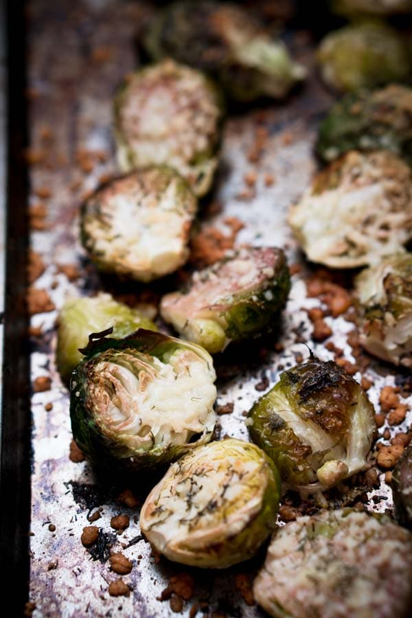 Baked Parmesan Brussels Sprouts Recipe - Low Carb, Keto, Vegetarian