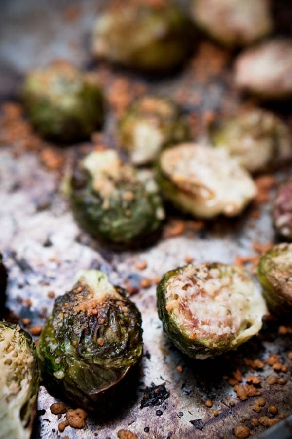 Low Carb Brussels Sprouts Recipe without Bacon - Parmesan Cheese, Dill, Lemon, & Olive Oil