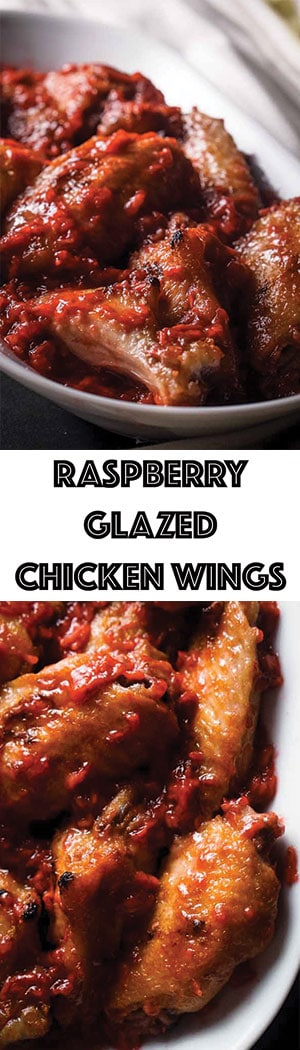 Raspberry Glazed Chicken Wings Recipe - Low Carb, Keto Friendly, Gluten-Free, Dairy-Free