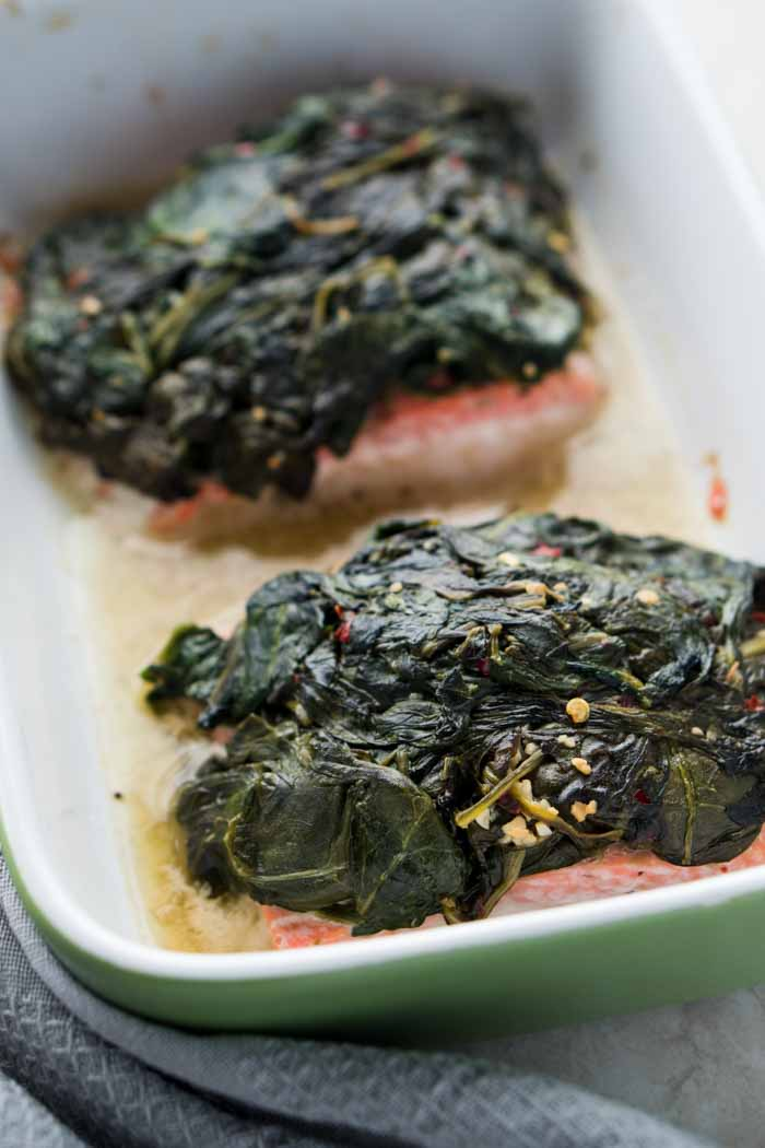 Salmon & Spinach Recipe - Low Carb Spinach Florentine