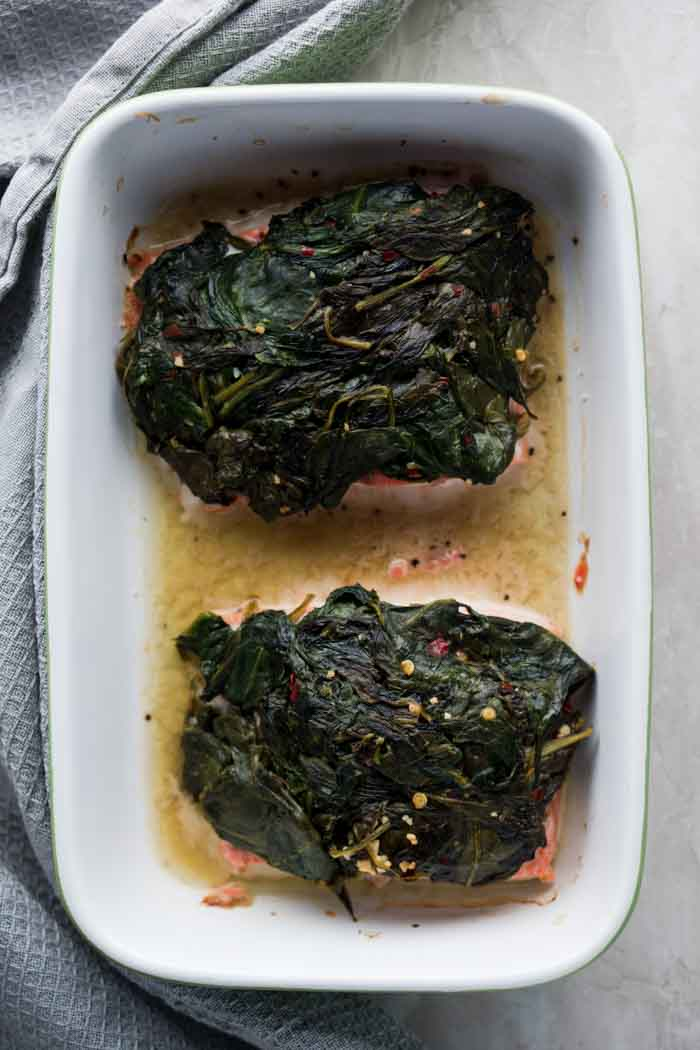 Keto Seafood Recipes - Spinach & Salmon - Spinach on Keto Diet