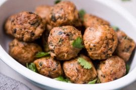 Spicy Baked Chicken Meatballs Recipe - Low Carb, Gluten Free, Dairy Free
