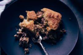 Low Carb Turkey Pot Pie Recipe with Biscuit Crust