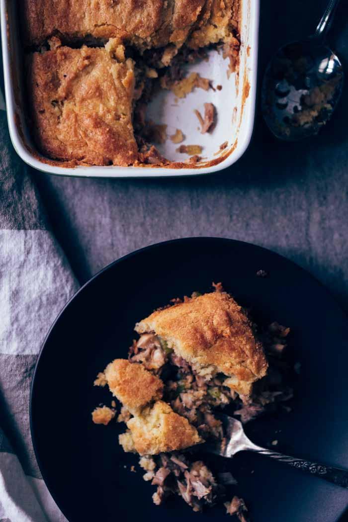 Gluten Free Turkey Pot Pie with Biscuit Crust