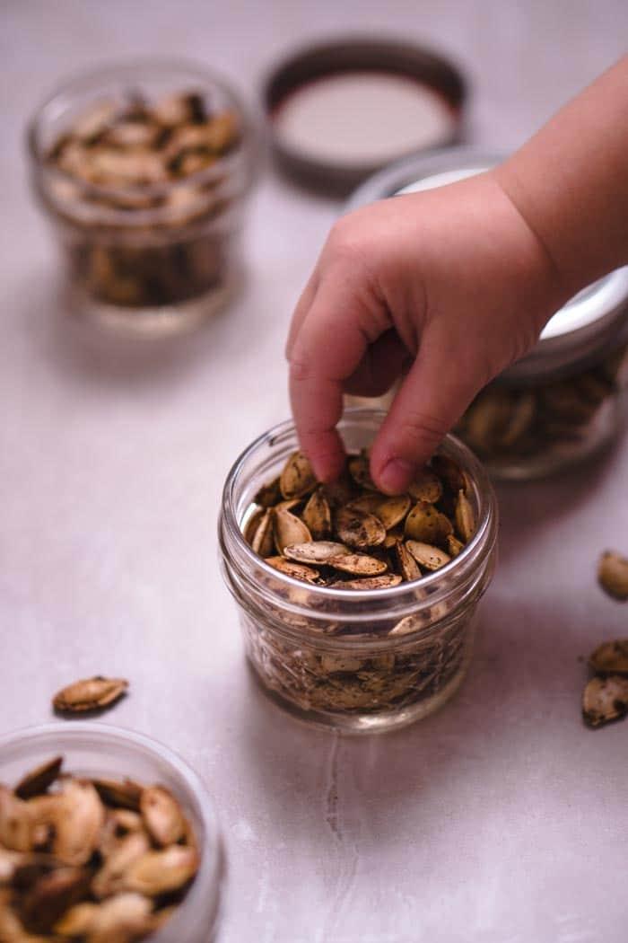 Pumpkin Seeds with Garam Masala Seasoning Recipe - Low Carb, Keto