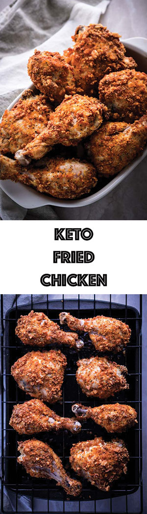 Low Carb Keto Fried Chicken Recipe - Gluten Free, Dairy Free