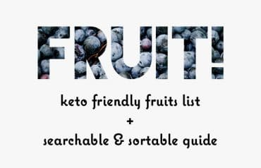 Low Carb Fruits List: Searchable Guide to Carbs in Fruit