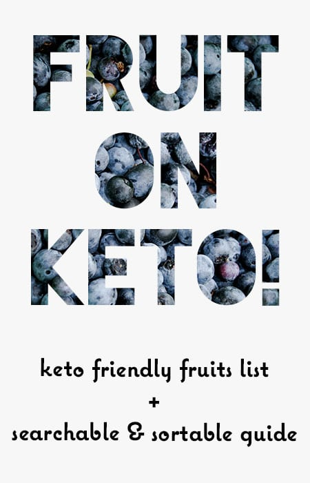Keto Friendly Fruits List! Guide to Carbs in Fruit - Searchable Low Carb Fruits List
