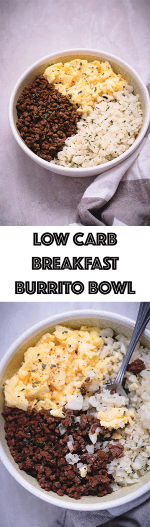 Low Carb Breakfast Burrito Bowl Recipe - Paleo, Keto