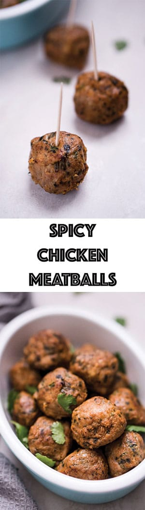 Hot & Spicy Chicken Meatballs Recipe - Low Carb, Gluten Free, Dairy Free