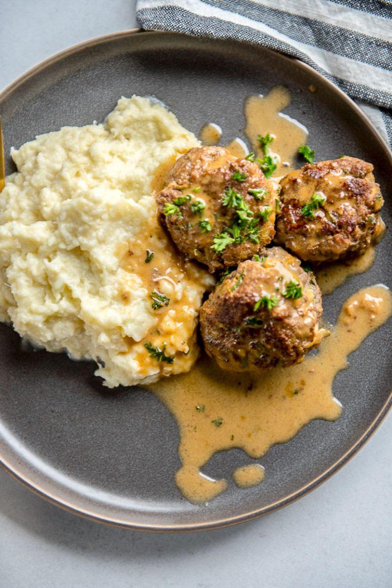 Easy Keto Swedish Meatballs Low Carb Gluten Free Ketogasm